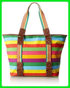 d43005a3a38b Sydney Love Canvas Stripe East West Travel Tote