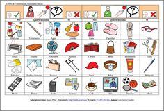 MATERIALES - Tableros de comunicación: Necesidades básicas 2.  Se compone de varios tableros para adultos con dificultades en la expresión. La finalidad es cubrir las necesidades básicas del día a día: alimentación, vestido, emociones, aseo, salidas, acciones…y poder comunicarlas. Puede servir también para al interlocutor para preguntar.  http://arasaac.org/materiales.php?id_material=678