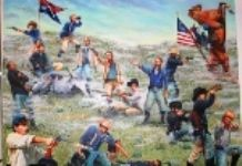 In June of 1876 Lakota and Cheyenne warriors defeated the U.S. 7th Cavalry in the Battle of Little Bighorn.