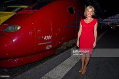 Photo d'actualité : French actress Michele Laroque attends the TGV...