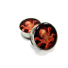 Octopus plugs from Mystic Metals Body Jewelry. Kind of creepy, but super cool.