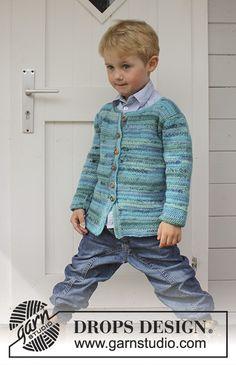 Little Lord - Crochet jacket in DROPS Fabel. - Free pattern by DROPS Design Baby Knitting Patterns, Crochet Baby Dress Pattern, Baby Patterns, Free Knitting, Gilet Crochet, Crochet Jacket, Crochet Cardigan, Drops Design, Crochet For Boys