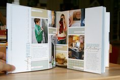 Balanced page with photos, patterns and writing. Like the colour combination