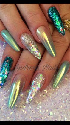 #acrylicnails #bluenails #nails2inspire #notpolish #nailstagram #nailart #nailedit #mermaidnails #longnails #nailswag #coffinnails