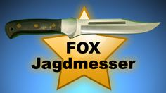 Fox Jagdmesser Outdoor Hunting Knife mit Schleifstein und Leder Nylonscheide Ein sehr gutes Jagd und Outdoor Messer  Gesamtlänge: ca. 29 cm  Klingenlänge: ca. 16cm Gewicht: ca. 270 g