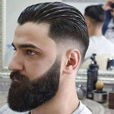 long top short mens hairstyles which are trendy. Combover Hairstyles, Trendy Mens Hairstyles, Slick Hairstyles, Easy Hair Cuts, Short Hair Cuts, Short Hair Styles, Slick Back Haircut, Fade Haircut, Popular Haircuts