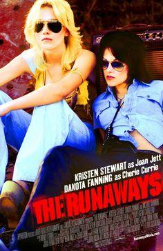 """The Runaways"" (2010). COUNTRY: United States. DIRECTOR: Floria Sigismondi. SCREENWRITER: Floria Sigismondi. COMPOSER: Lillian Berlin. CAST: Kristen Stewart, Dakota Fanning, Scout Taylor-Compton, Alia Shawkat, Tatum O'Neal, Michael Shannon, Brett Cullen"