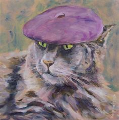 Cool Cat - Original Fine Art for Sale - © by Mary Schiros