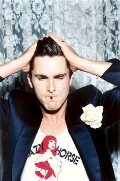 Christian Bale photographed by Ellen von Unwerth in 2001