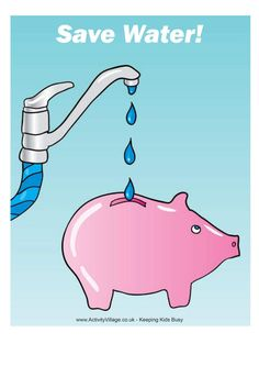 Poster - Save water