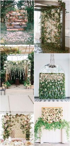 Flower wall wedding backdrops for 2018 #weddingtrends #weddingbackdropes #weddingdecor #weddingarches