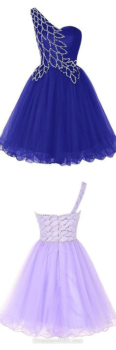 Sexy Prom Dress,Royal Blue Homecoming Dress,Tulle Prom Gown,Short Prom Dresses,One Shoulder Cocktail Royal Blue Homecoming Dresses, Pretty Prom Dresses, Royal Blue Dresses, A Line Prom Dresses, Tulle Prom Dress, Day Dresses, Beautiful Dresses, Evening Dresses, Party Dress