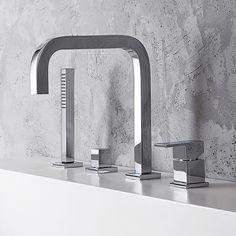 Nickel bross/é 25,4/cm robinet d/évier de cuisine trou du pont de Housse plate Rosace