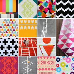 Check out these modern quilts with hip geometric patterns.