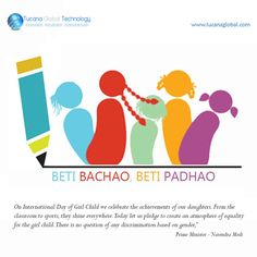 Today is #BetiBachaoBetiPadhao Campaign Launch Day in #India. So, Let's Celebrate the #Birth Of #GirlChild.