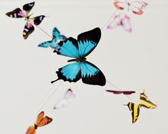 DIY: butterfly mobile