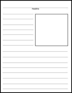 blank newspaper template for kids printable | Newspaper, School ...