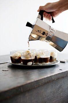 Affogato: Vanilla Ice Cream & Espresso