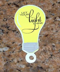 """Let your light so shine"" light bulb craft"