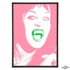 Pop art inspired by the classic Hammer Horror film Scars of Dracula featuring Anouska Hempel as a vampire, before she became the hotelier Lady Weinberg.