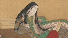 Murasaki Shikibu dressed in junihitoe.