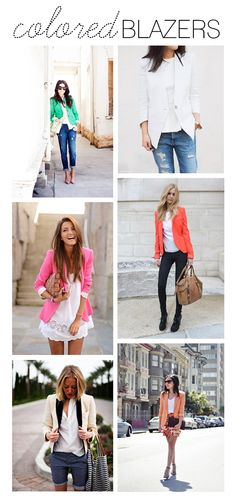 colored blazers.