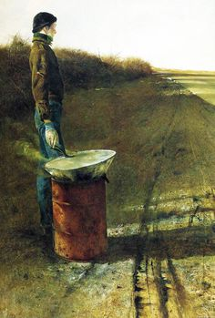 ANDREW WYETH. Roasted Chestnuts. 1956.