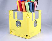floppy disk pencil holder...think i can make this.