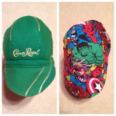 One of many WELDERS CAPS available  from my Etsy shop.  Visit https://www.etsy.com/listing/478766689/green-apple-crown-royal-welders-cap-with