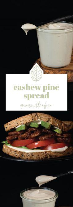 Cashew Pine Nut Spread #vegan