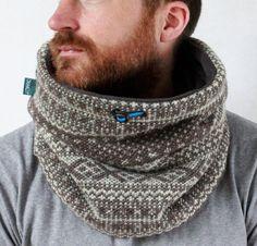 Mens winter accessories Snock® geometric wool knit cowl by jaffic