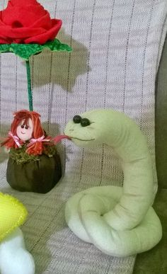 Serpente para compor tema O Pequeno Príncipe, por Priscila Barbara em Cheia de Graça Ateliê.