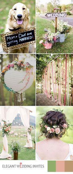 greenery garden  wedding ideas for 2017 spring