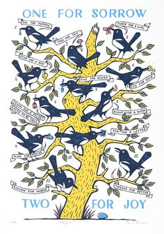"""""""Magpies"""" by Paul Bommer (screenprint)"""