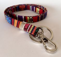 Ethnic Lanyard, Badge Holders, Boho Keychain, Bohemian, Key Lanyard, Fabric Lanyard, vegan, boho lanyard, unisex accessories, aztec lanyard by HITUK on Etsy https://www.etsy.com/listing/263516078/ethnic-lanyard-badge-holders-boho