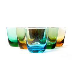 Mid-Century Glasses Set Of 6