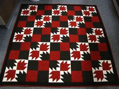Bear Paw quilt. Would be neat as a razorback quilt.