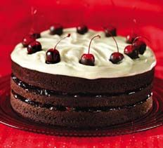 Alpine Chocolate-Cherry Layer Cake Desserts