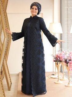 Nisanur Abiye Elbise - Lila modern, Lilac - Fully Lined - Crew neck - Muslim Plus Size Evening Dress Plus Size Gowns Formal, Evening Dresses Plus Size, Dress Brokat Modern, Hijab Dress Party, Mode Abaya, Abaya Designs, Abaya Fashion, Dresses Online, Designer Dresses
