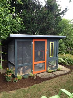 My husband and I were very excited when we finally made the decision to keep backyard chickens this spring. We live down the road from a poultry farm and get to hear the roosters crow every day so the thought of having our own small flock didnt. Urban Chicken Coop, Small Chicken Coops, Chicken Coup, Chicken Coop Designs, Backyard Chicken Coops, Chicken Runs, Backyard Farming, Chickens Backyard, Simple Chicken Coop