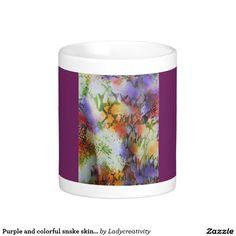 Purple and colorful snske skin mug