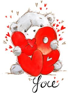 Teddy Bear Images, I Love You Pictures, Teddy Bear Pictures, Love Images, Valentines Day Clipart, Valentines Art, Watercolor Background, Watercolor Art, Love Feeling Images