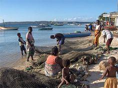 Pêche sur plage de Ramena