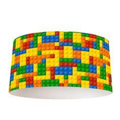 Lampenkap Legoblokjes   Bestel lampenkappen voorzien van digitale print op hoogwaardige kunststof vandaag nog bij YouPri. Verkrijgbaar in verschillende maten en geschikt voor diverse ruimtes. Te bestellen met een eigen afbeelding of een print uit onze collectie. #lampenkap #lampenkappen #lamp #interieur #interieurdesign #woonruimte #slaapkamer #maken #pimpen #diy #modern #bekleden #design #foto #natuur #lego #legoblokjes #bouwen #jongens #kinderkamer #jongenskamer #stoer #blokken