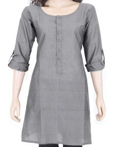 Grey cotton Kurti