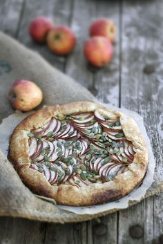 Apple Galette with Mint and Pumpkin Seeds