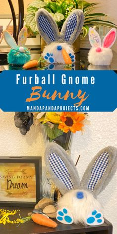 Turn a Dollar Tree Fur Pom Pom Key Chain into an adorable little GnomeBunny in just 5 minutes. This is a super easy Easter craft for both the kids and the adults, and you can whip up a handful of these like it's Gnomebunny's business! Bunny Crafts, Easter Crafts For Kids, Easter Decor, Easter Ideas, Dollar Tree Decor, Dollar Tree Crafts, Counseling Crafts, Holiday Activities For Kids, Craft Decorations