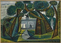 """""""Square Le Vert-Galant"""", (1943) by Pablo Picasso Pablo (1881-1973), Dépôt du musée Picasso. Paris, musée Carnavalet"""