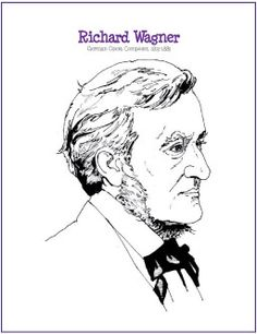 Richard Wagner   Composer Coloring Page - http://makingmusicfun.net/htm/f_printit_free_printable_worksheets/wagner-coloring-page.htm