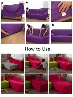Best 12 Elastic Anti Wrinkle Couch CoversSolid Color Stylish Sofa Slipcover 1 4 Seat Soft Lightweight Slip Resistant Sofa Furniture Protector Cover Fit Many Popular Sofas Black ** Continue to the product at the image link. Furniture Slipcovers, Couch Furniture, How To Clean Furniture, Furniture Covers, Sofa Chair, Diy Sofa Cover, Sofa Cushion Covers, Couch Covers, Cushions On Sofa